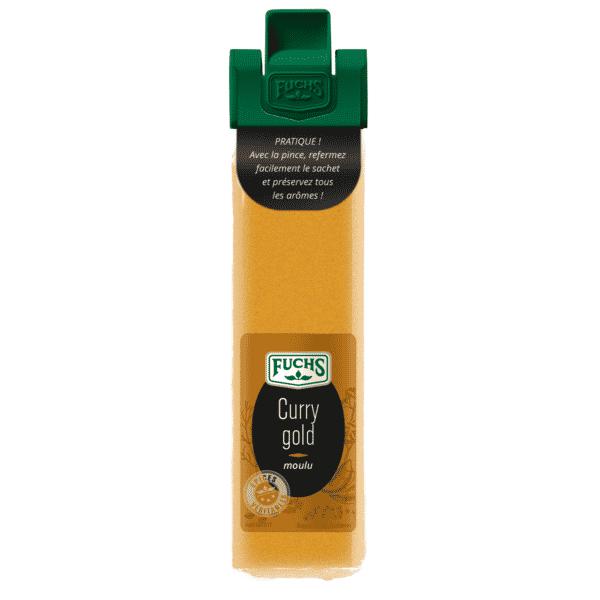 Curry gold moulu - Sachet clip - Epices Fuchs