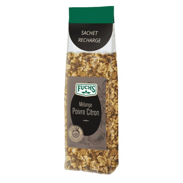 Mélange Poivre Citron - Sachet recharge - Épices Fuchs