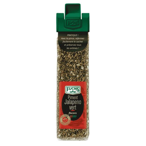 Piment Jalapeno vert flocons - Sachet Clip - Épices Fuchs