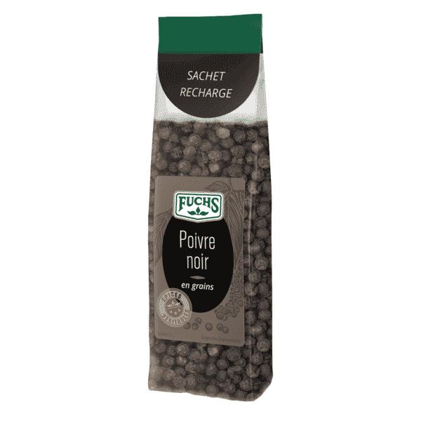 Poivre noir en grains - Sachet recharge - Épices Fuchs