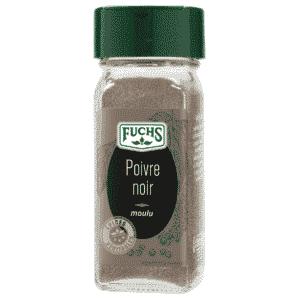 Poivre noir moulu - Flacon - Épices Fuchs