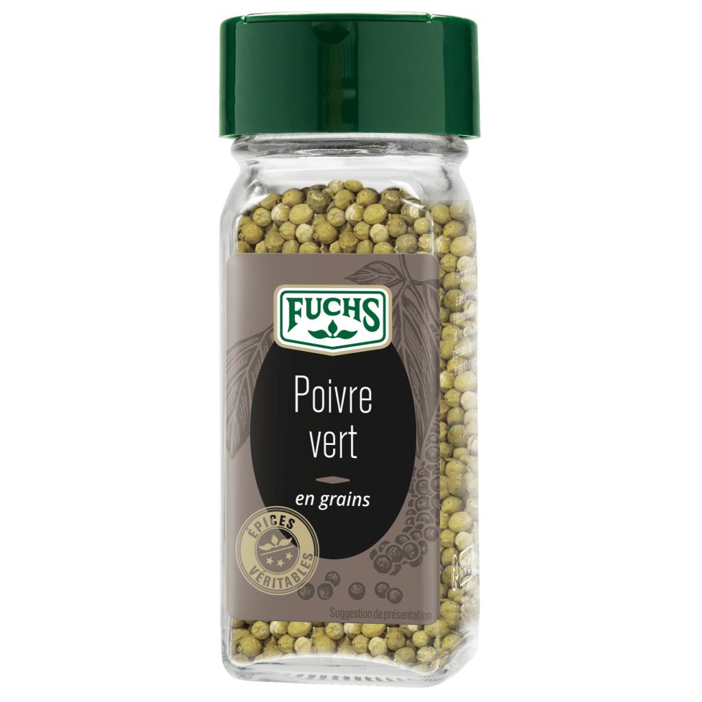 Poivre vert en grains - Flacon - Épices Fuchs