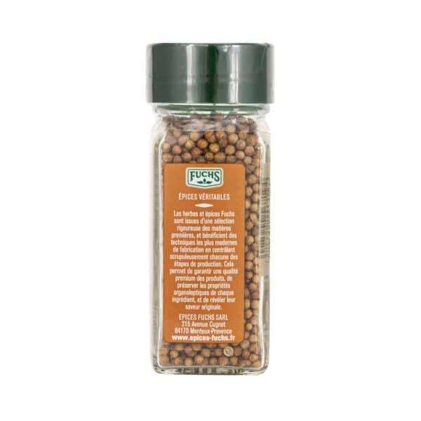Coriandre en grains - Flacon - Épices Fuchs