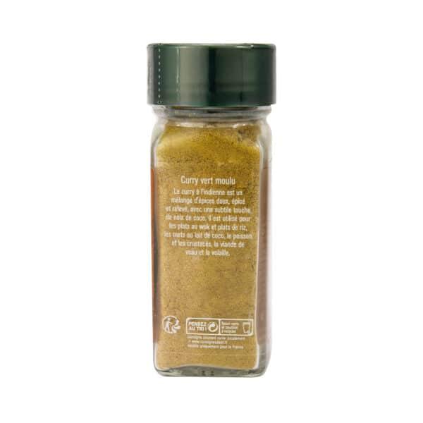 Curry vert moulu - Flacon - Epices Fuchs
