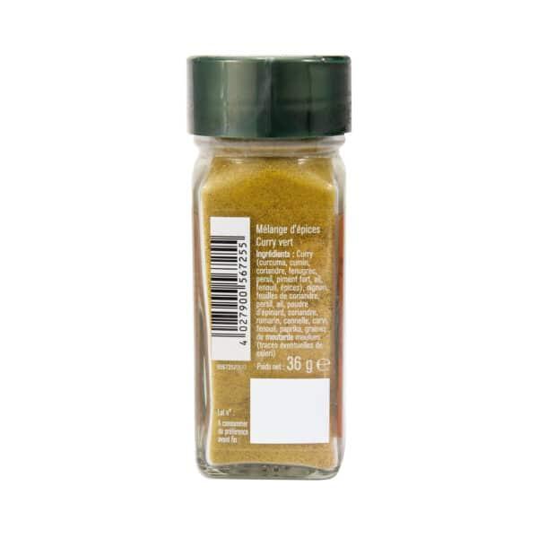 Curry vert moulu - Flacon - Epices FuchsCurry vert moulu - Flacon - Epices Fuchs