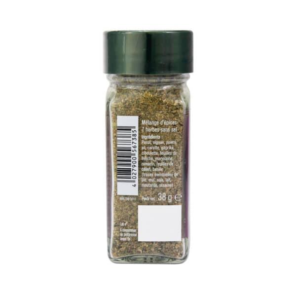 Mélange aux 7 herbes - Flacon - Épices Fuchs