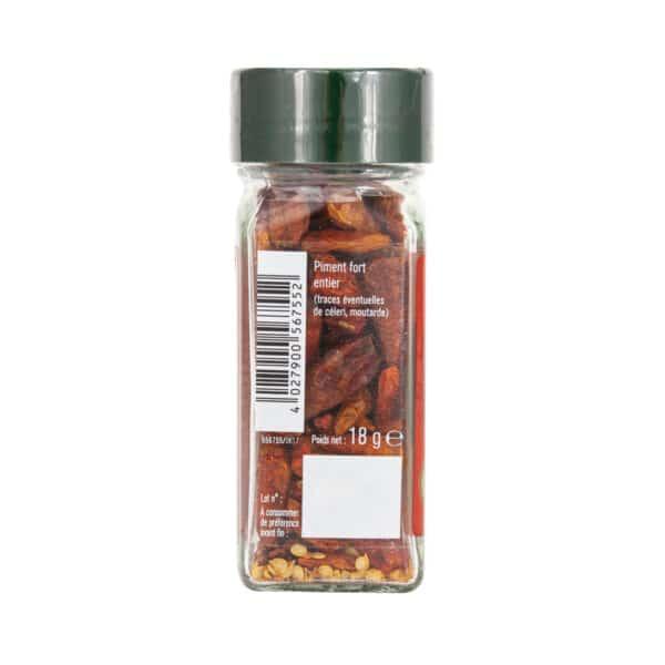 Piment fort entier - Flacon - Épices Fuchs