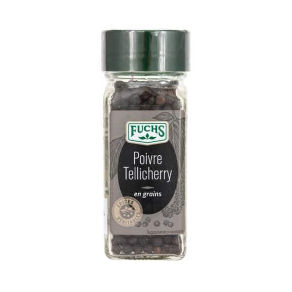 Poivre Tellicherry en grains - Flacon - Épices Fuchs