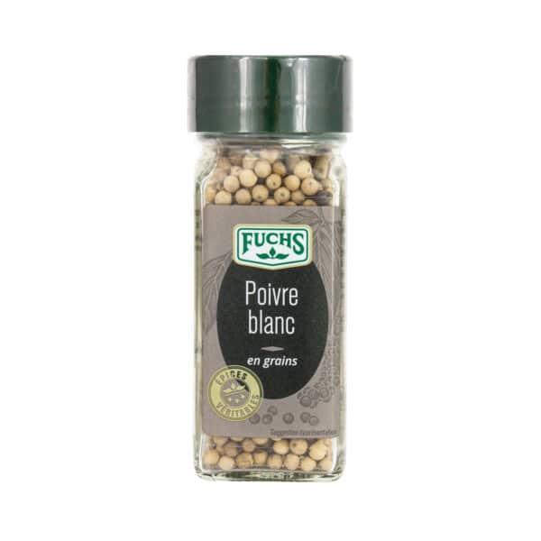 Poivre blanc en grains - Flacon - Épices Fuchs
