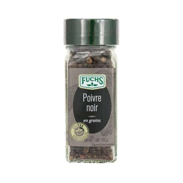 Poivre noir grains - Flacon - Epices Fuchs