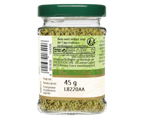 Anis vert entier bio - Flacon verre - BioWagner