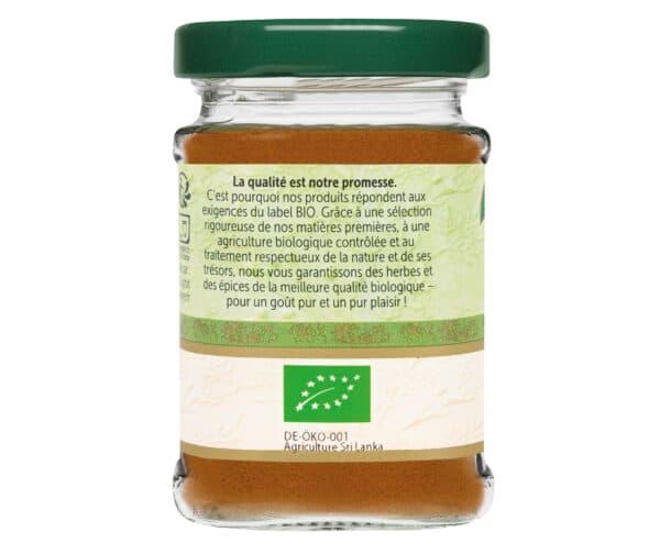 Cannelle moulue - Flacon verre - BioWagner