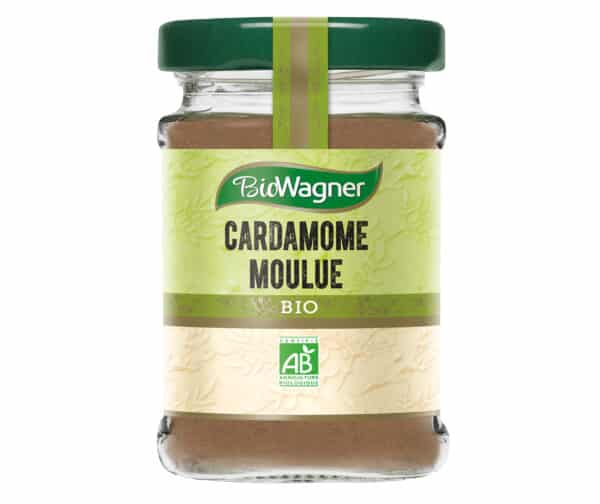 Cardamome moulue bio - Flacon verre - BioWagner