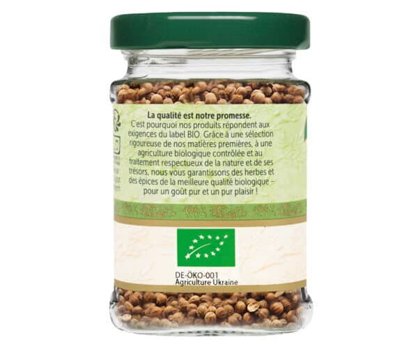Coriandre en grains - Flacon verre - BioWagner
