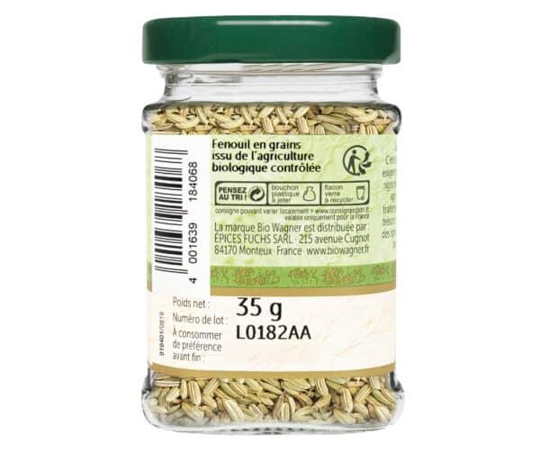 Fenouil grains bio - Flacon verre - BioWagner