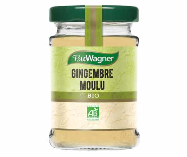 Gingembre moulu bio - Flacon verre - BioWagner
