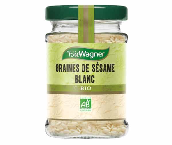 Graines de sésame blanc - Flacon Verre - BioWagner