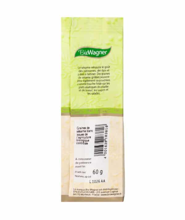 Graines de sésame blanc Bio - Sachet - BioWagner