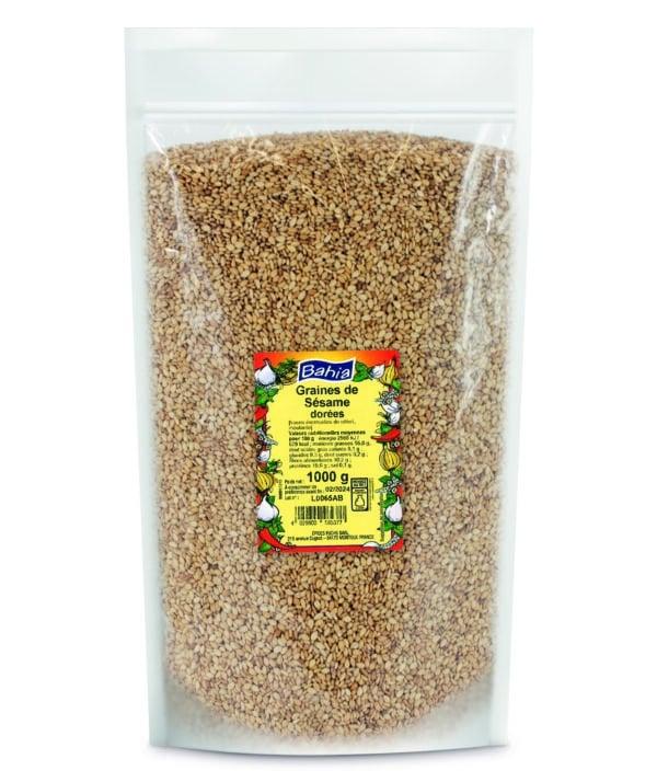 Graines de sésame dorées - Sachet 1kg - Bahia