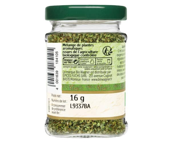 Herbes de Provence bio - Flacon verre - BioWagnerHerbes de Provence bio - Flacon verre - BioWagner