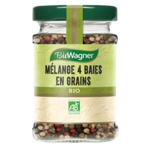Mélange 4 baies bio - Flacon verre - BioWagner