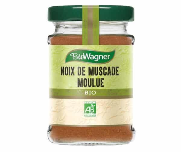 Noix de muscade moulue Bio - Flacon verre - BioWagner