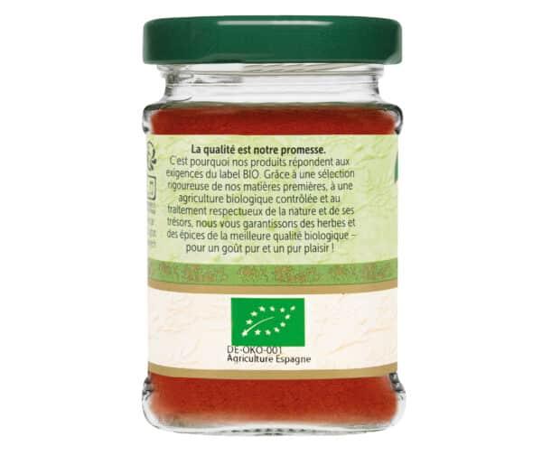 Paprika doux bio - Flacon verre - BioWagner
