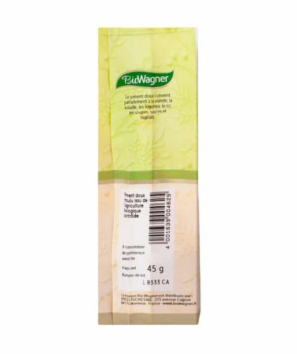 Piment doux moulu Bio - Sachet - BioWagner