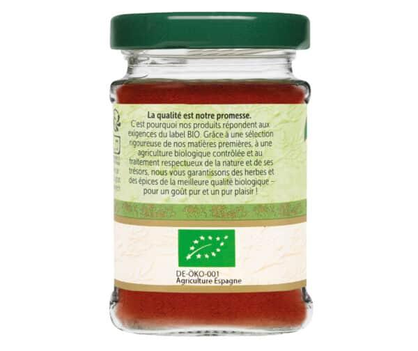 Piment doux moulu bio - Flacon verre - BioWagner