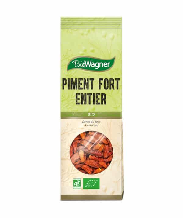 Piment fort entier Bio - Sachet - BioWagner