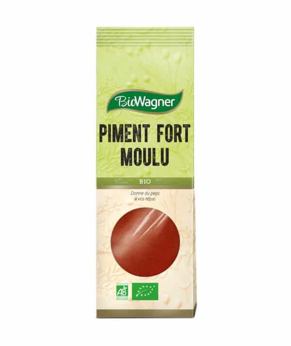 Piment fort moulu Bio - Sachet - BioWagner