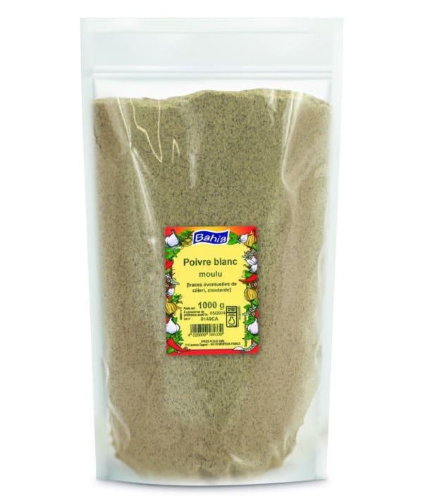Poivre blanc moulu - Sachet 1kg - Bahia