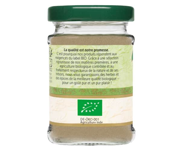 Poivre blanc moulu bio - Flacon verre - BioWagner