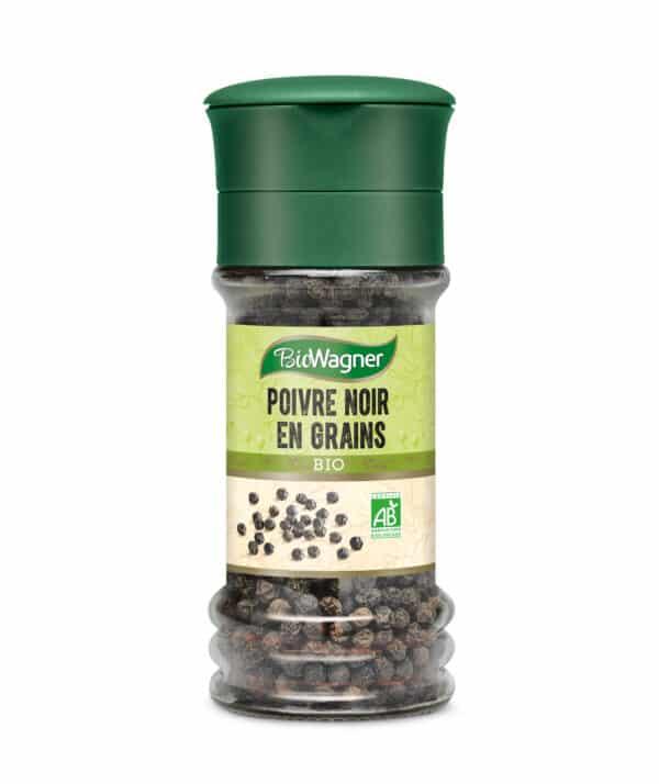 Poivre noir en grains bio - Moulin - BioWagner