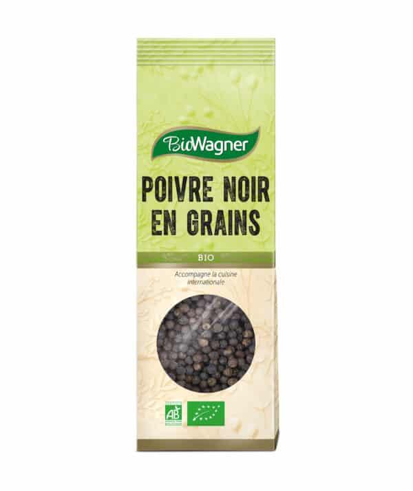 Poivre noir en grains Bio - Sachet - BioWagner
