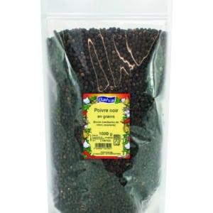 Poivre noir grains - Sachet 1kg - Marque Bahia