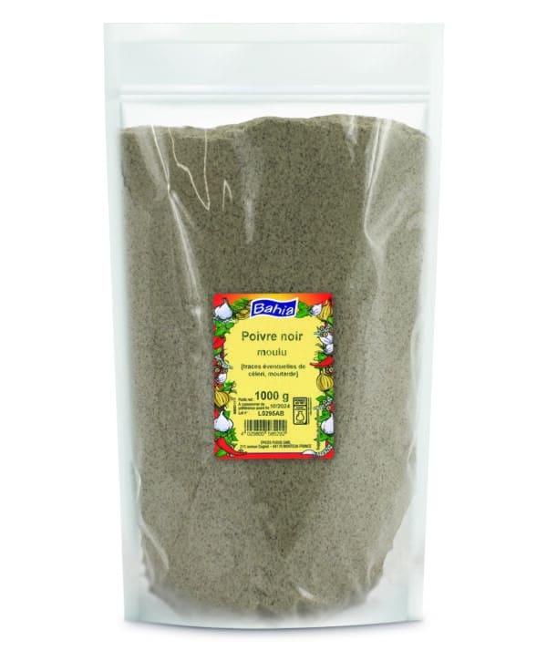 Poivre noir moulu - Sachet 1kg - Bahia
