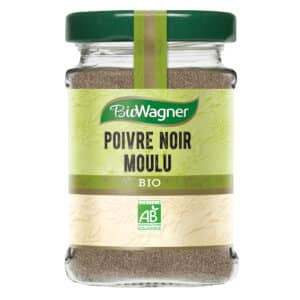 Poivre noir moulu bio - Flacon verre - BioWagner