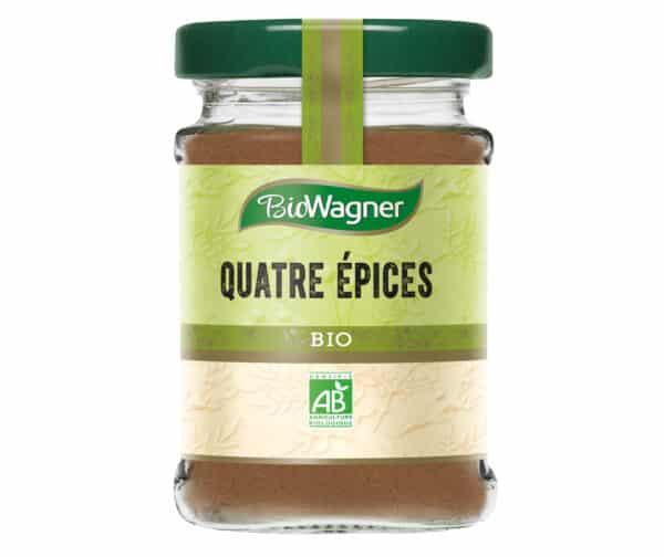Quatre épices bio - Flacon verre - BioWagner