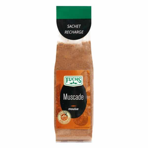 Muscade moulue - Sachet recharge - Épices Fuchs