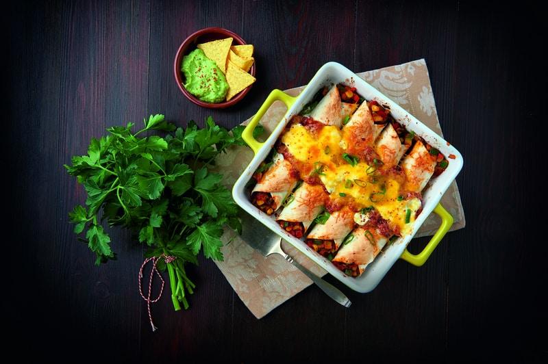 Enchiladas aux légumes