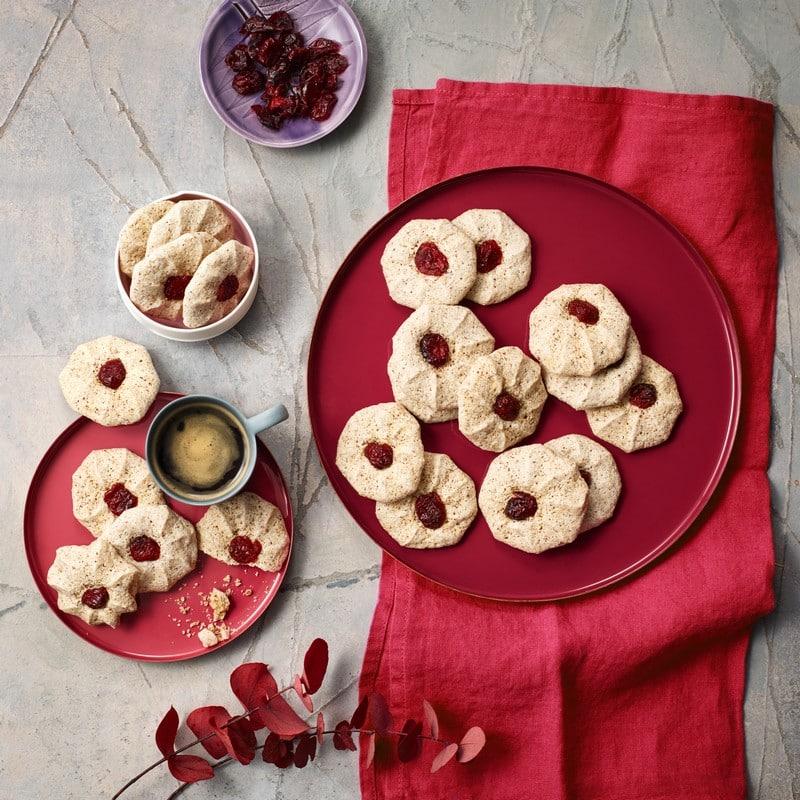 Macarons noisettes cranberries