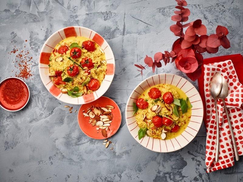 Risotto de quinoa aux tomates et à la mozzarella